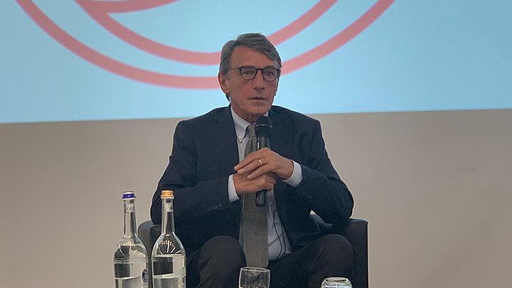 """David Sassoli alla presentazione del libro """"Ricostruiamo la politica"""""""